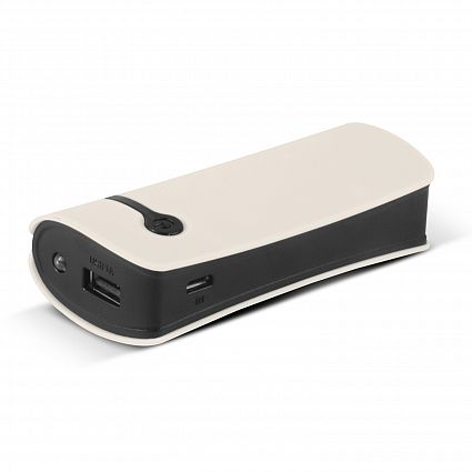 White Curve Tablet Promotional Power Bank