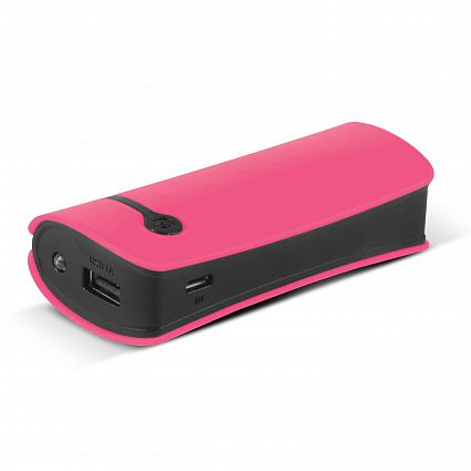 Pink Curve Tablet Promotional Power Bank