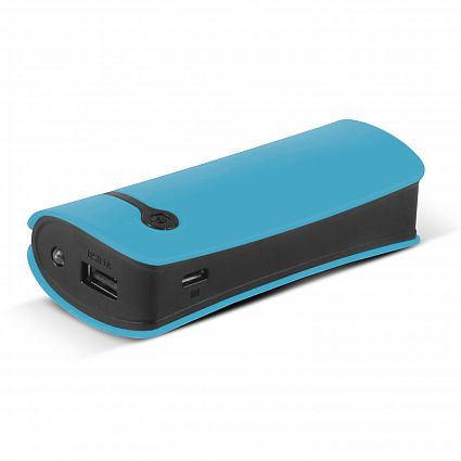 Curve Tablet Green Promotional Power Bank